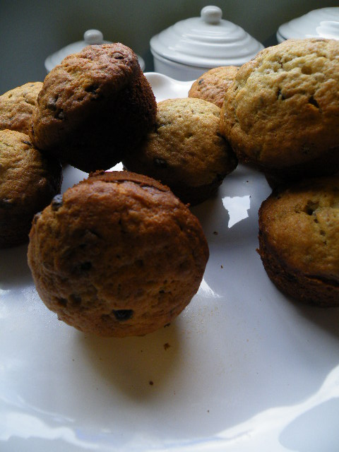 The Baker's Daughter: Banana, Chocolate and Flax Muffins